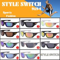 wholesale men sport with best reviews - Hot sports cycling riding sport sunglasses for men women Sun glasses with logo STYLE SWITCH 9194