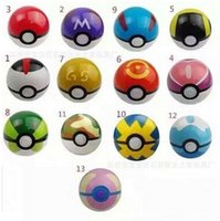 Wholesale 13 style cm Cute Pocket Poke Ball Pokeball Mini Model Classic Anime Pikachu Super Master Ball ABS Action Figures Toys Gift Kids DHL