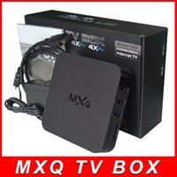 Wholesale In Stock MXQ Android TV Box Quad Core Amlogic S805 Smart Media Player Set Top OTT IPTV Boxes GB GB With XBMC KODI Pre installed