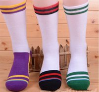 basketball candy - mens brand new candy color stripe professional terry bottom breathable long tube knee high crew Sports Socks mans basketball football socks