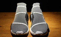 Wholesale Brand Sock S79150 Mens And Womens Shoes NMD CS1 City Sock PK Core Black Vintage White Ftwr White Size US5 US10
