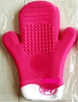 Wholesale New Silicone Brush Cleaning Glove Cleanser Colors Make up Makeup Brush Cleaner Gloves Tools