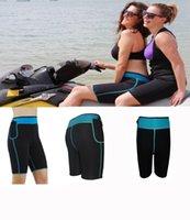 Wholesale XS XL Womens Slimming Pants Hot Thermo Neoprene Sweat Sauna Body Shapers Hot Control Panties Pant Sport Neoprene Short Pants