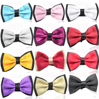 Wholesale 25 colors bowties men s ties women bow tie pure color bowtie men wedding business hotel waiter bow tie F348