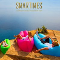 Wholesale lamza hangout sleeping bag inflatable Seconds Quick Open Lazy Sleeping Bed Beach Sleep Bed dhl