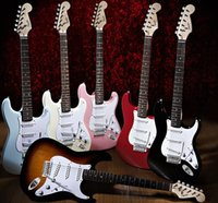 Wholesale fashion colorful electric guitar excellent quality guitar beginners electric guitar
