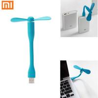 Wholesale Portable Flexible USB Mini Fan Xiaomi popular portable USB Fan Low power For all Power Supply PC USB Output Free shipiing