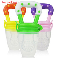 Wholesale Free EMS New Baby Cute Food Nipple Feeder Silicone pacifier Fruits Meat Feeding Tool Supplies SZ16 N01