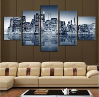 beautiful picture framing - City building beautiful No Frame Large HD Top rated Quality Canvas Print Painting for Living Room Wall Art Picture Gift