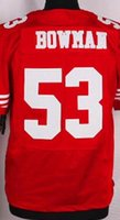 49ers - Elite Football Stitched ers NaVorro Bowman Rice Boldin White Red Black Jerseys Mix Order