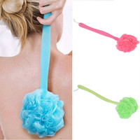 Wholesale New Bath Shower Body Back Clean Brush Scrubber Long Plastic Handled Mesh Sponge