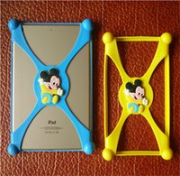 Cheap Universal 3D cartoon Minion Stitch Mickey silicone bumper clear Frame back cases cover for ipad mini 2 3 4 air 6 6-9.7 inch Tablet PC New