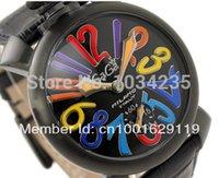 al por mayor reloj número del color-2016 La tendencia de los números de colores de moda de lujo grandes relojes mecánicos masculinos ronda gaga de línea de moda reloj