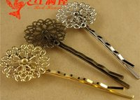 Wholesale 64 MM ZAKKA jewelry hair accessories filigree flower silver hairpin snowflake multicolor optional antique bronze gold hairclip