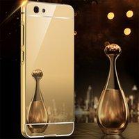 aluminium electroplating - Mirror Aluminium Metal Bumper Case For IPhone S Plus S galaxy S6 S7 edge Note Electroplate Metal Case For Huawei Oppo Sony VIVO