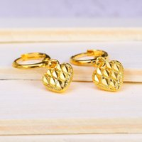 accessories studs - 2016 Brand New Golden Earrings Heart Earrings For Evening Dress Fashion Jewelry Hot Sales Classic Accessories Lowest Price 5