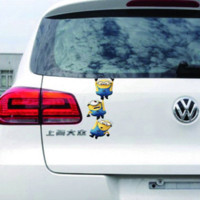 auto glass glue - Reflective Rear Window Cover Despicable Me Minions Movie Sticker Auto Car Vinyl Decal Truck Motorcycle Glass Waterproof Stickers