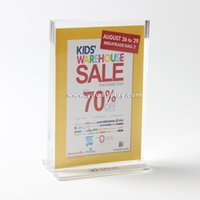 acrylic poster holders - Acrylic A6 poster display stand poster board stands display stand banner display holder stand up banner