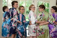 bachelorette favors - Short Bridesmaids Robes Getting Ready Robes Bridesmiads Gift Wedding Shower Party Favors Bachelorette Party Pre wedding Pics Kimono Robes