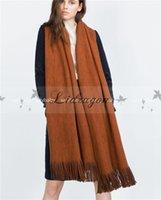 best warm blanket - New Fashion long Scarf Winter warm Women Scarf shawl Unisex female Solid blanket Scarf Best Quality Pashmina Studios Tassel Women Wraps M384