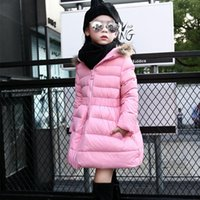 Wholesale Girls Jackets Coats New Arrivals Fashion winter Fur Hooded Thick Warm Parka Down Kids Clothes Cotton Children Outwear