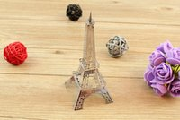 Wholesale 3D Puzzle Metal Earth D Laser Cut Model of Pisa Wing Fighter toys D Jigsaws DIY Eiffel Tower Big Ben Helicopter Tower