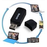 Wholesale Black Bluetooth Wireless Music Receiver Bluetooth USB Music Audio Receiver Adapter for Smart Phone Tablet PC