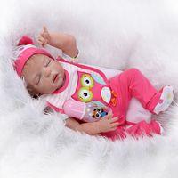 bebe china - 22 quot Soft Baby Doll Reborn Full Silicone Vinyl Body Lifelike Cute Bebe Reborn Collectible Dolls Play Dolls