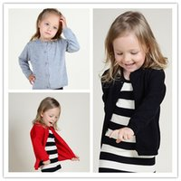 Wholesale INS Baby Girls Knit Cardigan Sweater Children Cotton Outwear Jackets Hoodies Kids Spring Autumn Tench Coats Poncho Halloween Hot Clothes