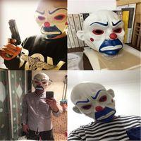 Bon Marché Vidéo de masquage-Masque de mascarade de Halloween pour Robbers Adulte Batman Clown Masque Joker Cosplay Performance Masque Le chevalier produits vidéo foncé