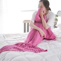 adult room colors - 7 Colors Adult Mermaid Tail Blankets cm Mermaid Sleeping Bags Cocoon Knit Sofa Blankets Handmade Living Room Sleeping Bag PPA495