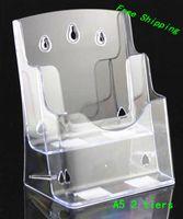 brochure holder - Clear A5 Tiers Pocket Plastic Brochure Literature Display Holder Racks Stand To Insert Leaflet On Desktop