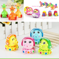 Wholesale 8pcs Classic Tin Clockwork Toys robot Jumping Frog Vintage Colorful funko pop Wind up toys for Children Kids gift