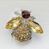 bee mother - Free postage new champagne diamond jewelry acrylic bee pin brooch upscale clothing and clothing accessories gifts