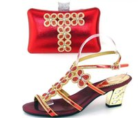 beautiful lady italian - African lady shoes and bag matching set for high quality for red size Beautiful plum Italian Shoes And Bag