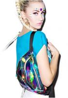 Wholesale Waist Bag New Rainbow Transparent PVC Bag Silver Hologram Laser Waterproof Belt Multi functional Sport Pockets Travel Bag