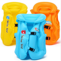 Wholesale Kids Inflaable Swimming Safety Fishing Clothes Survival Suit Child Life Vest Children Life Jacket water sport kids life vest