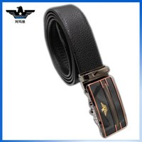 Wholesale AMAWOLF genuine leather belts for men High quality all match automatic buckle belt for fashionable man factory