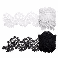 Wholesale 3Yards Polyester Lace Trim Ribbon Costume Applique Fabric DIY Sewing Craft White Black Fashion For Home Weeding Party Decor