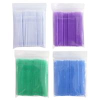 Wholesale Durable Micro Disposable Eyelash Extension Individual Applicators Mascara Brush make up tools non linting arbitray bending angle Makeup
