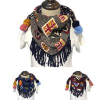 Wholesale Trendy Autumn Winter Kids Scarf Printing Triangular Neckerchief Children Neck Warmer Baby Clothing Accessories VF0069
