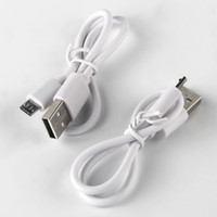 batteries cable charger car - USB Cable Mirco Cable for Android Smart phone Mirco USB Charge Cable Cord For USB E Cigarette Battery Samsung HTC Nokia SonyWhite DHL Free