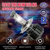 Wholesale 1PairH4LED headlamps one pair W8000LM3000K4300K600K8000K automotive light sources Strong Car Headlight Fog Light Conversion kit With