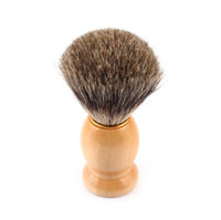 badger shave brushes - Pure Badger Hair Shaving Brush Shave Beard Brushes with Natural Wood Handle for Mens Face Beard Cleaning Tool