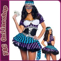 adult gypsy costumes - Sexy adult gypsy costumes for dance stripe style gypsy girls costume with paillette by
