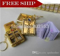bible keys - English frame Christian Gospel gifts crafts mini bible keychain God day school supplies prizes key ring