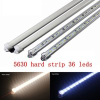 Wholesale 5XWholesale CM DC V SMD LED Hard Rigid LED Strip Bar Light red blue green color U Aluminium Cover