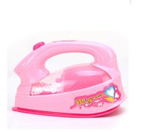 Wholesale New mini play small home appliance electric iron with light security environmental protection