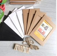Wholesale 100 Pieces SET SET Retro Vintage Creative Inches DIY Wall Hanging Paper Photo Frame With Rope Clips