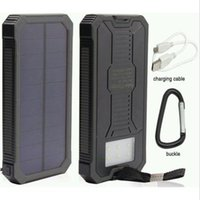 Wholesale 50 mAh Solar Power Bank Dual USB Portable External Battery Charger For Mobile